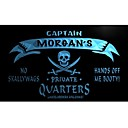 de pw508 Morgan Captain Quarters privadas Skull cerveza luz de neón