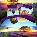 Luolan 3D Print dispersos Colorantes poliéster 4 piezas Set Ropa de cama A71