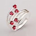 Anillo de diamante de la plata 925 de las mujeres meles