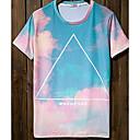 Jogal 3D Impresión floral de la historieta de la serie T Shirt (Pantalla T235 en color)