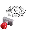 boda 33x63mm personalizadoamp; paz negocio estilo paloma rectángulo grabado fotosensible sello nombre de sello (dentro de 8 letras)