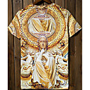 Jogal 3D Impresión floral de la historieta de la serie T Shirt (Pantalla T233 en color)