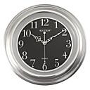 """11 """"H Retro Mudo Reloj de pared con la cara de plata"""
