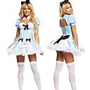 Alice in Wonderland Deluxe Lago Azul Traje de Halloween de poliéster mujeres Backless