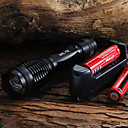 2000 LM CREE XM-L T6 5-Mode LED Flashlight  2x18650 baterías  cargador