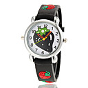 Children's Lovely Strawberry Pattern Flashlight LED Light Silicone Band Quartz Wrist Watch (Assorted Colors)