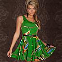 Europea sexy vestido de estampado floral discoteca adelgazan aisu mujeres