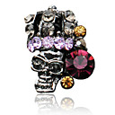 5PCS Noble Skeleton Women Design Rhinestone Studded Nail Art Decorations