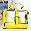 Womens Fashion Sweat Candy Color Tote
