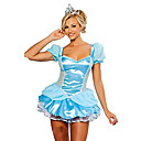 Disfraz de Halloween de la Cenicienta con Encanto Deluxe Mujeres Azul poliéster