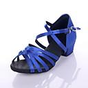 las mujeres y los zapatos de baile de satén de los niños para las sandalias latin / rendimiento (más colores)
