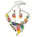 Colores Mujer Yumfeel Hojas Pendientes y collar Diamonade