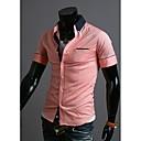 Contraste de manga corta cuello redondo Camiseta Gloria Camisa Casual