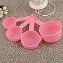10 piezas de plástico cuchara medidora rosada tazas de medir