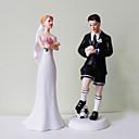 Soccer Groom Exasperated Bride Wedding Cake Topper
