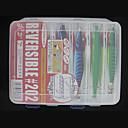 206  170  42MM dos caras Caja Blanca Pesca transparente caja de trastos