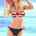 Chica Glamour La bandera británica que cuelga del cuello Bikini