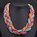 Womens  Woven Multi-colored Necklace