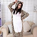 Fierce African Leopard Flannel Adult Kigurumi Pajama