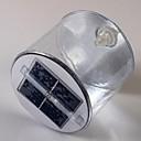 10-LED Solar Powered novedad inflable Noche recargable lámpara de luz de la linterna