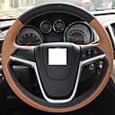 Cubierta del volante del cuero genuino Xuji ™ Naranja Negro para Buick Excelle XT GT Buick Encore