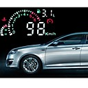 Car HUD verde LED Head Up Display con OBD2 interfaz Plug and Play Speeding Advierten Sistema