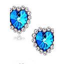 (1 par) europeos (diamante azul gemas) como aretes de aleación foto