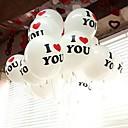 100PCS 30cm 12'' perla grande Latex Balloon Mientras fiesta de la boda de Navidad de color TE AMO palabras Propos