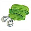 Carking ™ 3 Ton Cuerda Nylon Heavy Duty coche remolque con doble ganchos - Verde (4m)