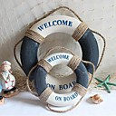 Mediterranean Style Of Blue And White Foam Material Decoration Life Buoy Hanging Ornaments