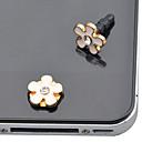 35MM cinco pétalos Flores aleación anti-polvo Plug etiqueta engomada del botón Set