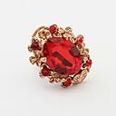 anillo de piedras preciosas gota classisc pengchen (rojo)