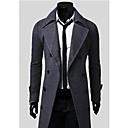 Coton Mens Winter Style Fashion Comfortable Tweed Coat