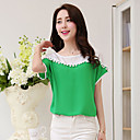JK Womens Loose Fit Short Sleeve Round Neck Blouse
