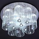 2 Way agraciada LED de cristal del techo de luz 12 Luz