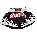 Blanco y Negro Pantalón corto de boxeo (el tamaño clasificado)