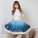 Azul Pretty Lolita Fairy Princess Goblin Kawaii Falda encantadora Cosplay