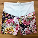 floral-pattern-elastic-waist-maternity-shorts-summer-pregnancy-wear-cotton-blend-short-pants