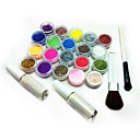 Best Selling FreeShipping (17pcs Polvo brillante  2  cepillo de plantillas tatuaje  2 pegamento) / Set C141