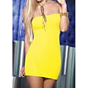 Color sólido Vestido ajustado atractivo de Darling ropa de mujer