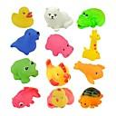 12pcs Mixta Diferente Lavadora Baño Animal Toy Baño Sets Educación Juguetes para niños