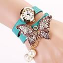 c  d 2014 nuevas mujeres del taladro del remache pulsera mariposa visten relojes xk-173