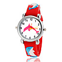 Children's Lovely Dolphin Pattern Flashlight LED Light Silicone Band Quartz Wrist Watch (Assorted Colors)