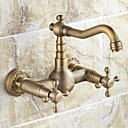 Antique inspired Kitchen Faucet - Wall Mount (Antique Brass Finish