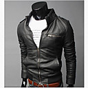 Coton Men's Winter Style Fashion Comfortable PU Coat