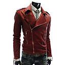 City Mens Casual Basic Fashion Soft Pu Jacket