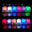 12pcs luz que cambia de color cubos de hielo LED del banquete de boda de Navidad Bar Restaurante