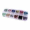 2000PCS de colores de uñas de acrílico redondo 2mm decoraciones del arte