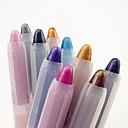 2in1 de 10pcs colorido brillo sombra de ojos lápiz delineador de ojos y conjunto deslumbrante