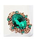 anillo de piedras preciosas gota pengchen (verde)